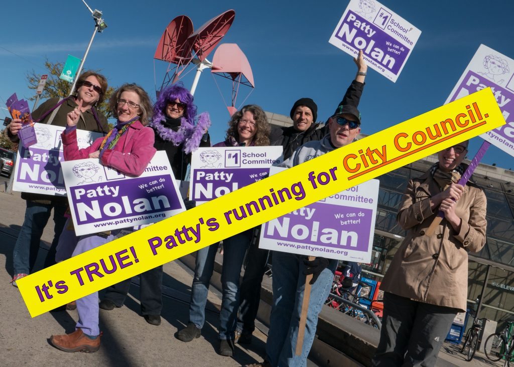 Patty and her energetic supporters loose on the campaign trail!