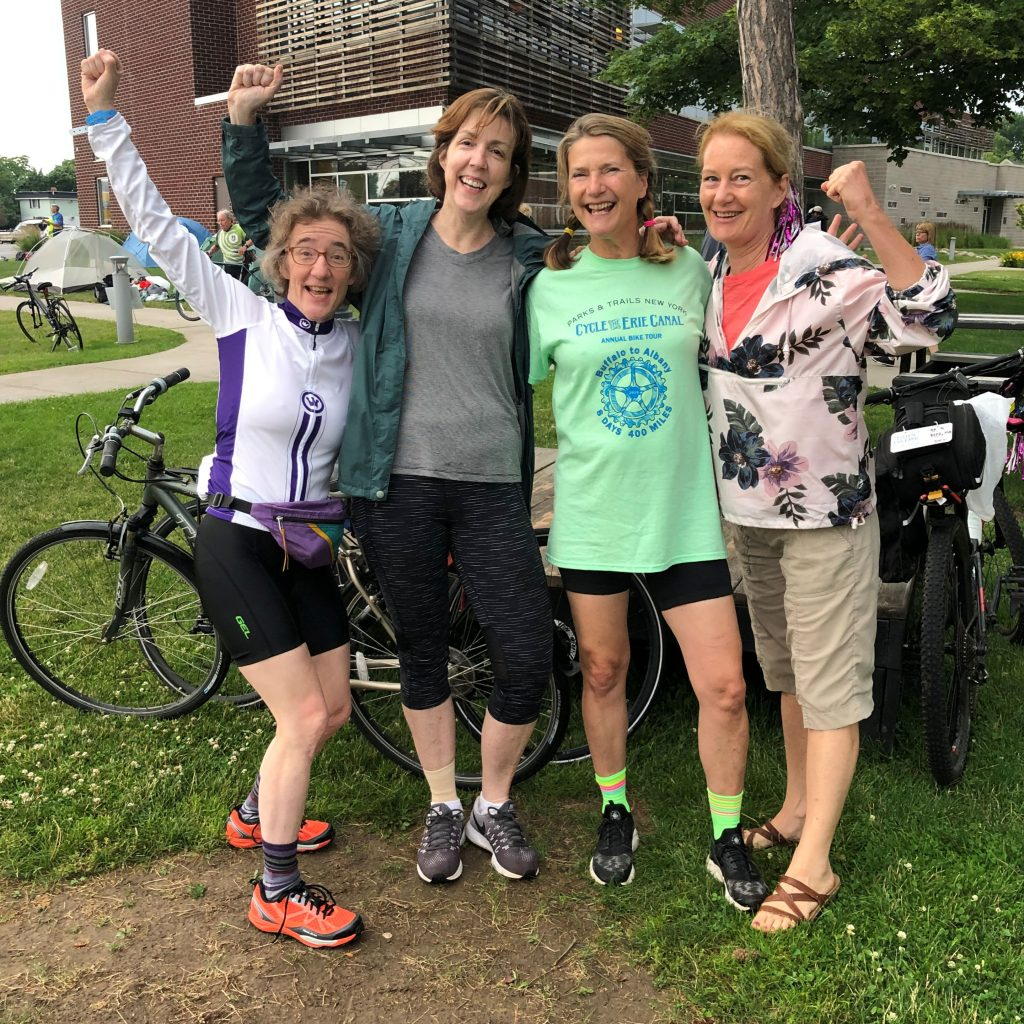 Patty and friends did the Erie Canal bike ride in July 2019